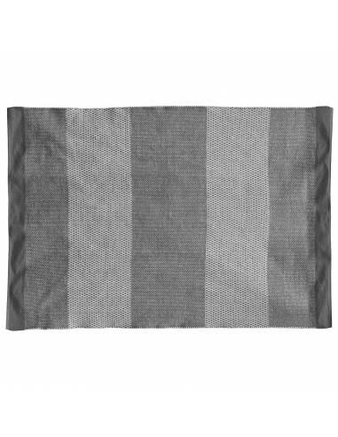 Lleve estilo a su hogar con esta alfombra de franjas grises. Con carácter y moderna. De algodón.