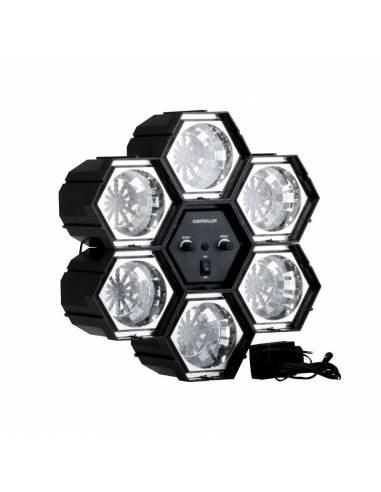 LUZ DISCO 6 FOCOS LEDS