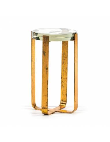 Venta Online Mesa Auxiliar Dorado Cristal Diseño Vintage