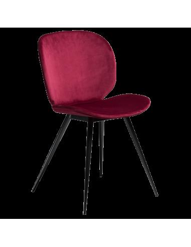 Silla Nube Terciopelo rubí, ocre, gris. OlivenzoHome