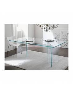 Mesa Cristal Transparente Despacho, Oficina ó Salón Comedor