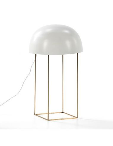 Lámpara Sobremesa Metal Blanca. OlivenzoHome