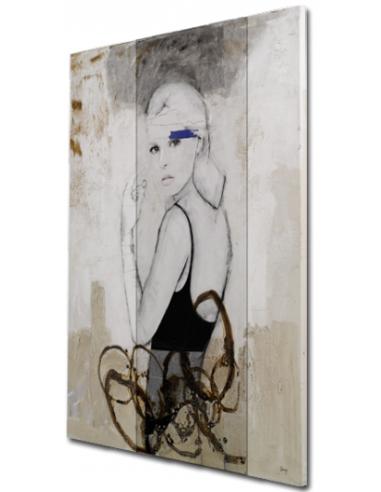 CUADRO NATALIE  Cuadro original del autor Diego Serra, pintado sobre lienzo en técnica mixta.