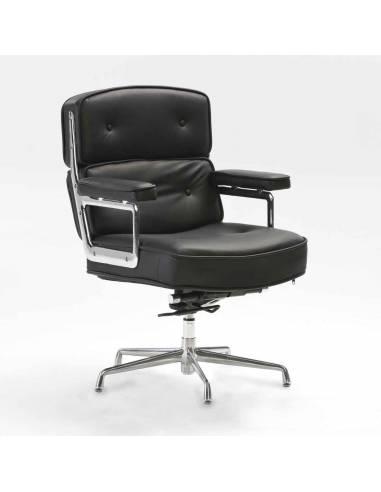 Venta silla despacho piel negra. OlivenzoHome